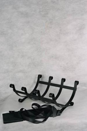 Дровница с сумкой ДиС, кованая подставка для дров.